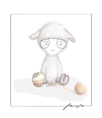 illustriertes Schaf